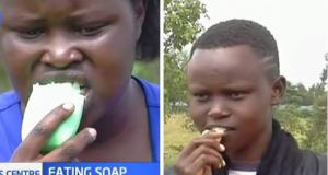 nandi sisters eating soap