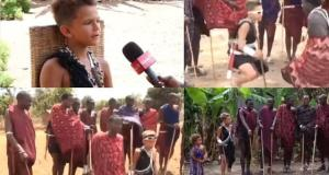 boy joined maasai community