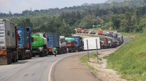 kenyan truck driver and tanzanian truck driver or truck drivers tests positive for coronavirus or covid