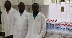 Busitema University Donates BU Hand Sanitizers To Fight COVID-19