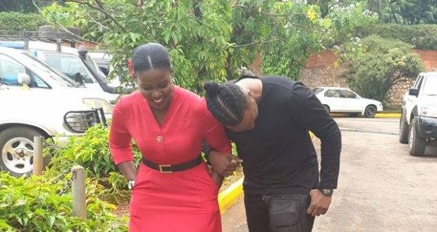 Singer Bruno K and Faridah Nakazibwe