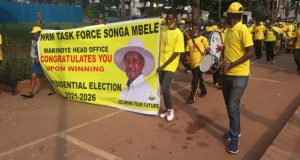 Museveni Excites Supporters As He Drives Through The City
