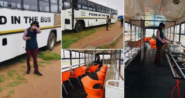 Young man Transforms Luxurious Bus Into Mobile Restaurant, Netizens Surprised With The Creativity