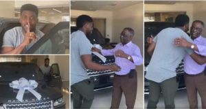 Young Man Surprises His Dad With Brand New Range Rover On His 70th Birthday