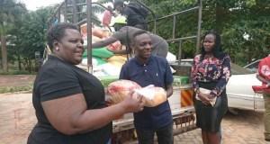 Pastor Bugembe Gives Relief Food To Struggling Gospel Artists