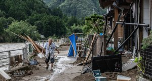 Tens Of Thousands Urged To Evacuate As Torrential Rains Hit Japan