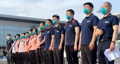 COVID-19: Chinese Doctors Arrive Nigeria
