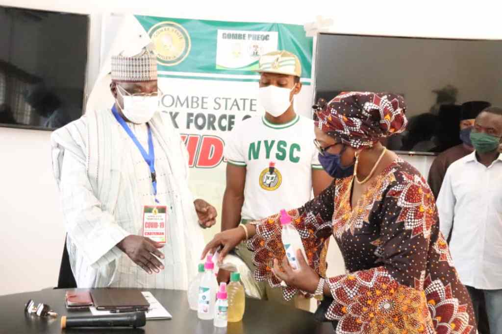 COVID-19: Gombe to Produce, Distribute 1 Million Face Masks as NYSC Donates Home Made Sanitizers