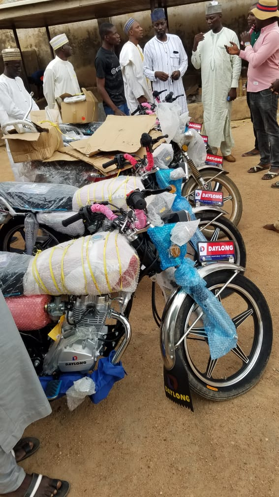 Hon. Namdas Surprise Loyalists With Brand New Motorcycles