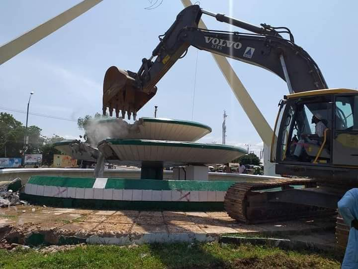 Mixed Feelings Trails Demolition of Police Roundabout