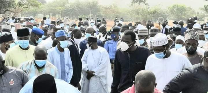 Gov Fintiri, Others Attend Former IGP Gambo Jimeta's Burial in Abuja