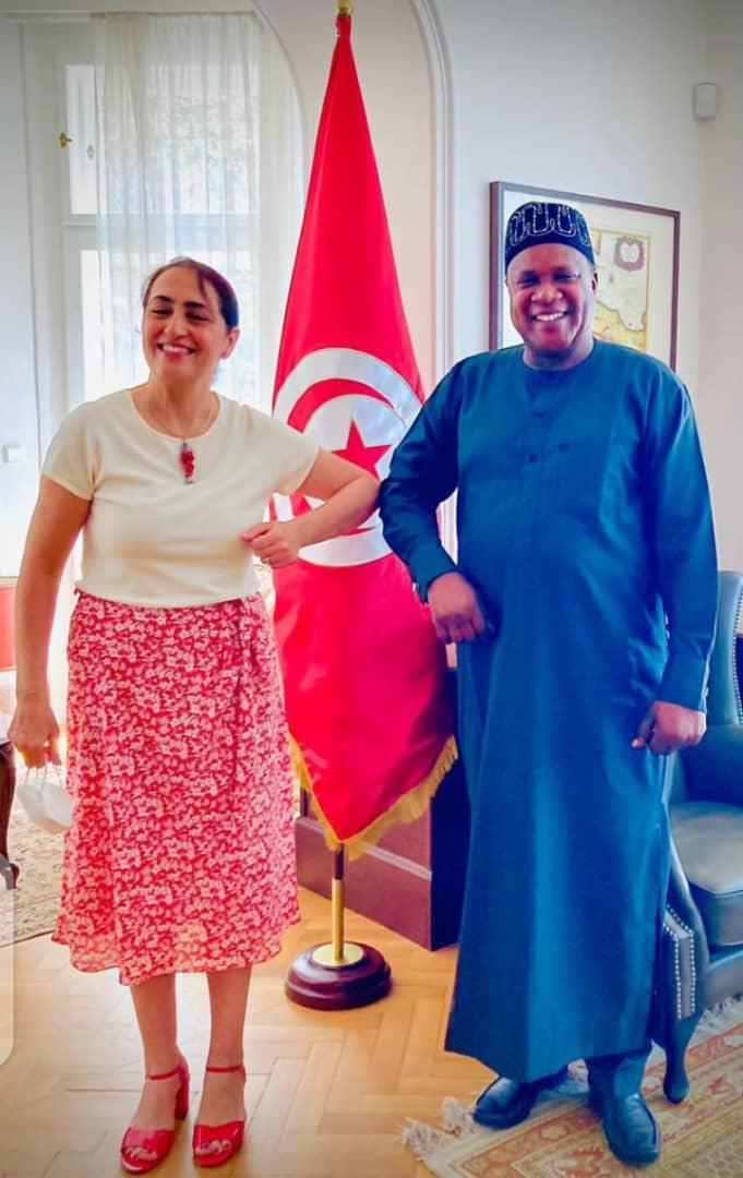 Ambassador Kevin Peter Visits Ambasador Yorsa Souiden of Tunisia, Discuss Areas of Mutual Interest