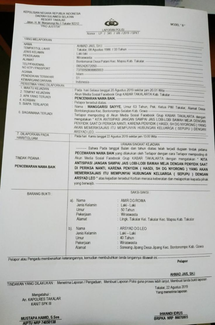 Contoh Surat Laporan Pencemaran Nama Baik Berbagai Contoh Cute766