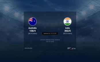 Australia vs India live score over 3rd ODI ODI 26 30 updates   Cricket News