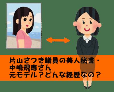 中嶋規恵 片山さつき 美人秘書 プロフィール 経歴