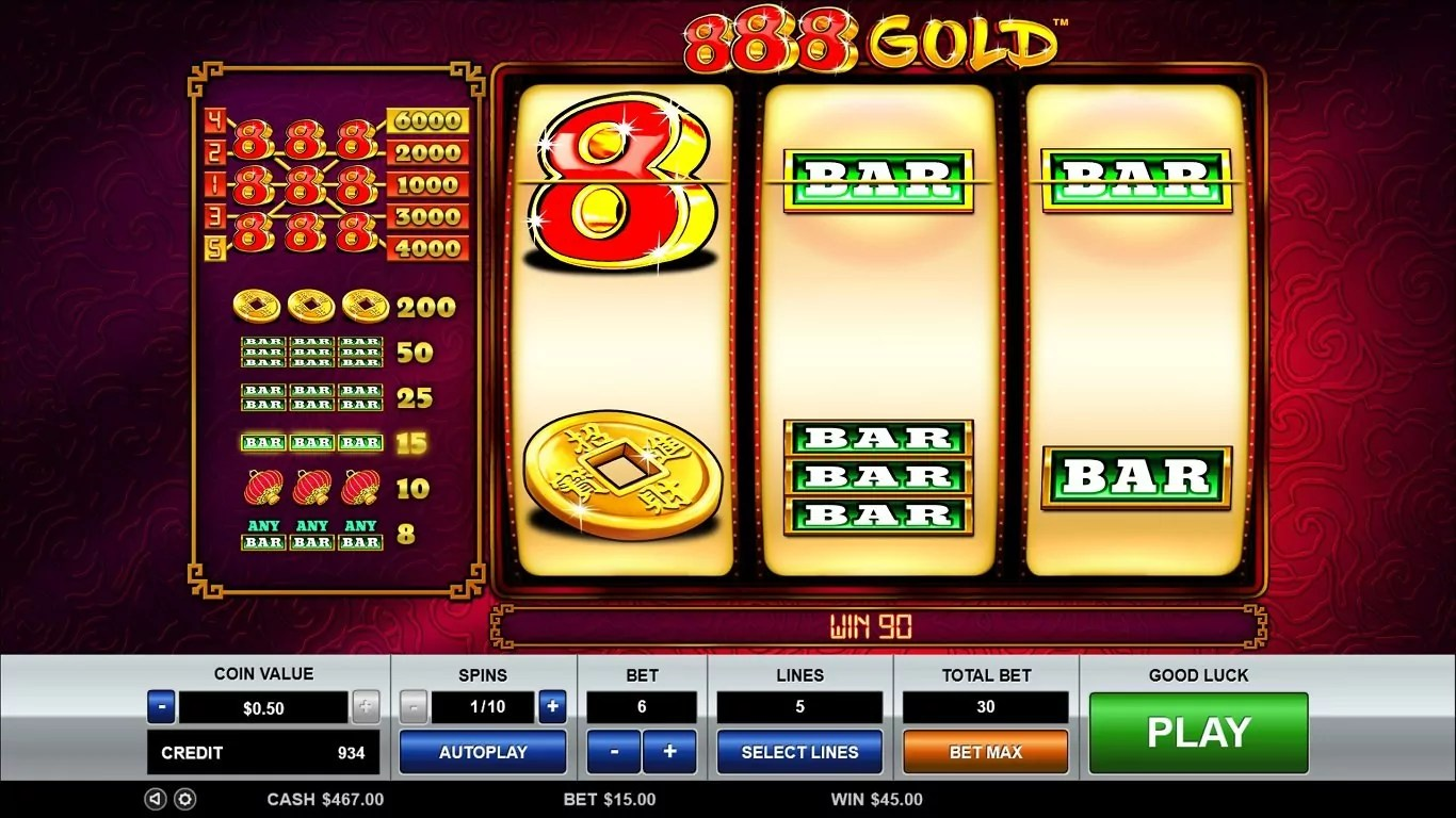 888 Gold Slot Rtp, Review And Bonuses