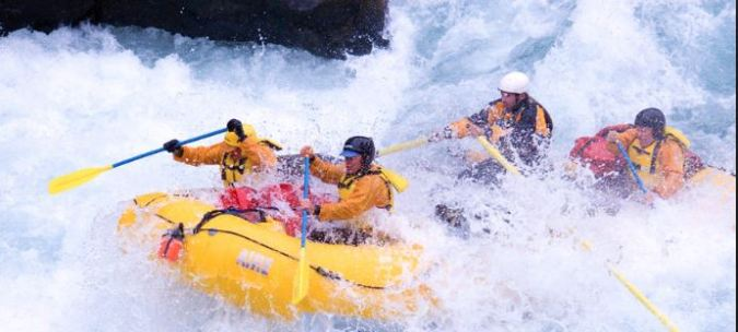 Whitewater rafting in the Andes