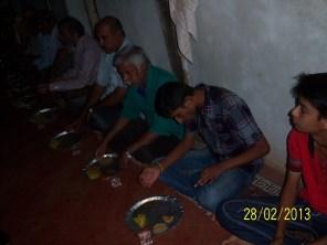 Men enjoying the meal