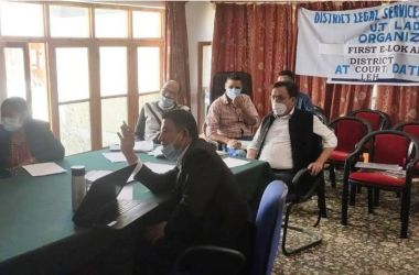 e-Lok Adalat organized at district Court Complex Leh