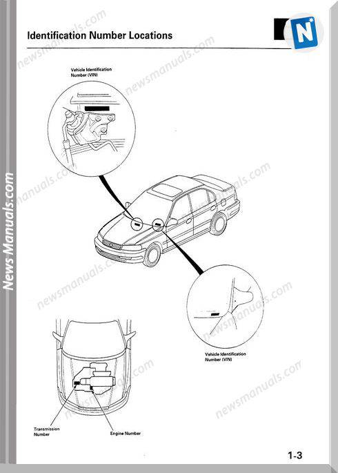 Acura 16El 97 Service Manual Model Year 1997