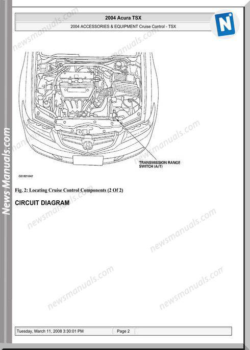 Acura Tsx Cruise Control Repair Manual