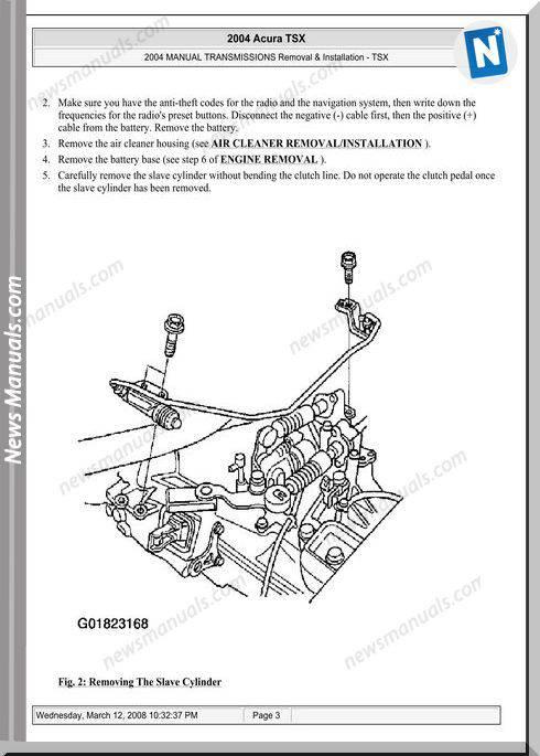 Acura Tsx Transmission Removal Installation 2003 2008