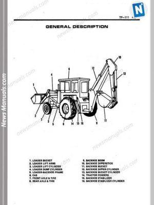 Backhoe loader All Manuals • News Manuals
