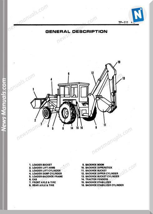 Allis Chalmers 918 Backhoe Loader Parts Catalog