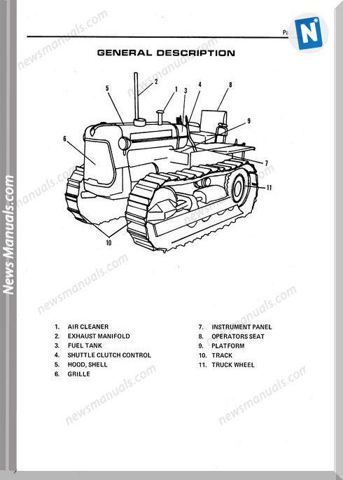 Allis Chalmers H3 Hd3 Crawler Tractors Parts Catalog