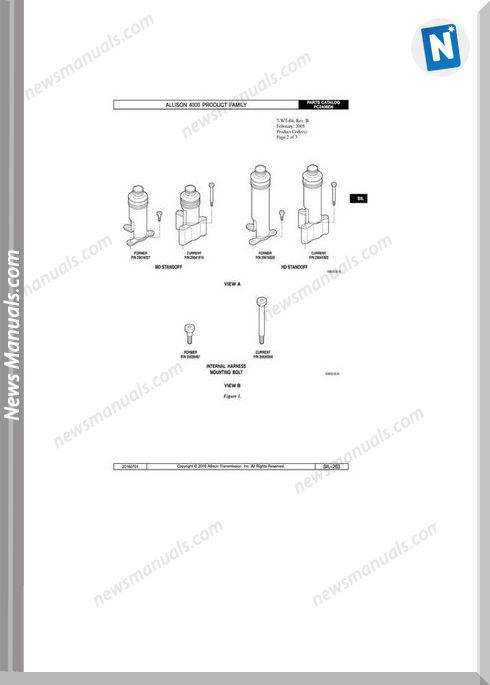Allison Transmission 4000 Series Parts Manual