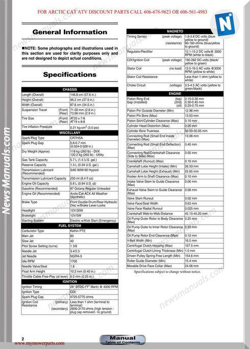 Arctic Cat Dvx 90 And 90 Utility 2012 Service Manual