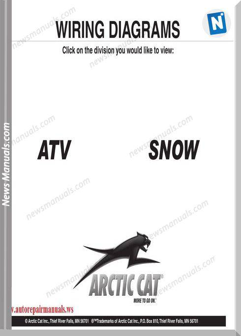 Arctic Cat Thru 2009 Atv Mobilesnow 2000 Wiring