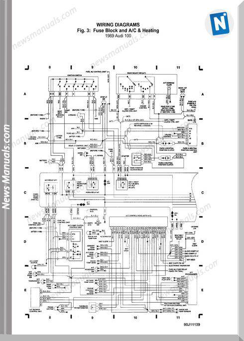 Audi 100 Models 1989 Wiring Diagram