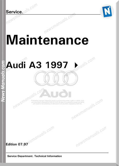 Audi A3 Maintenance Repair Manual
