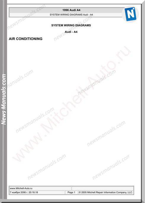 Audi A4 1996 Wiring Diagram