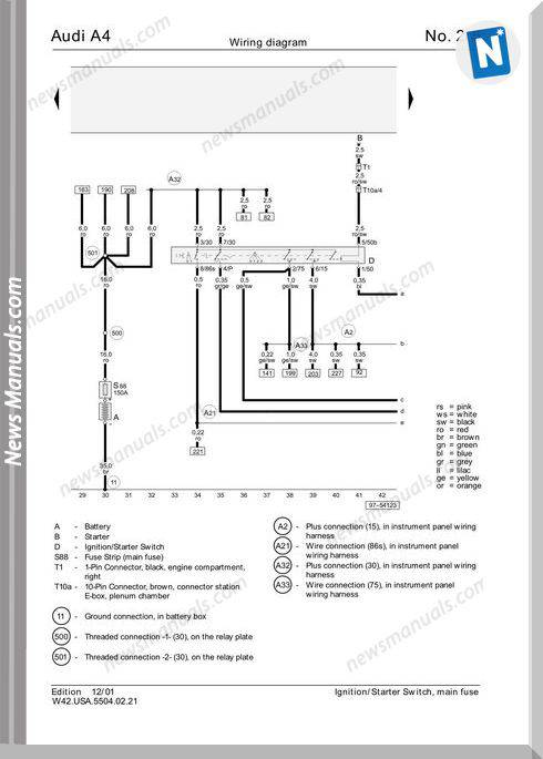 Audi A6 2002 Wiring Diagram