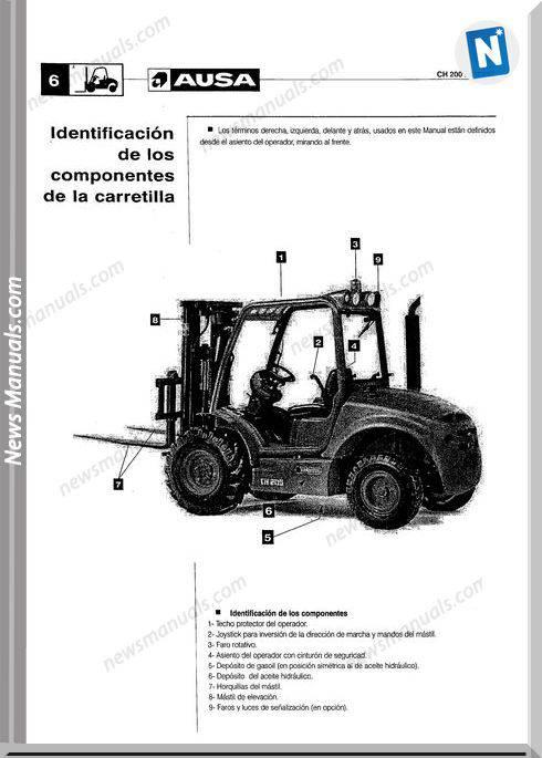 Ausa Forklift Models Ch200 250 Service Manual Esp
