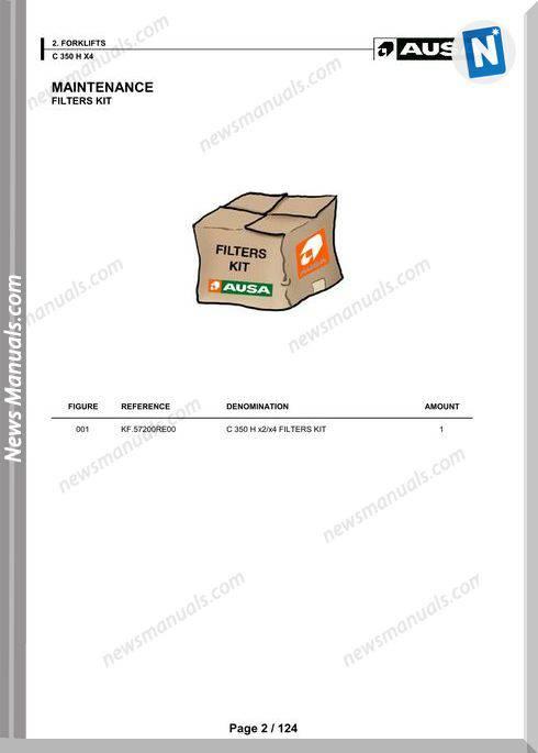 Ausa Models C 350 X X4 Parts Manual Katalog Delova