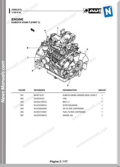 Ausa Models C 400 X X4 Parts Manual Katalog Delova