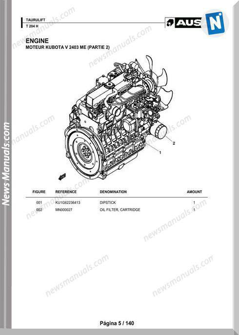 Ausa T 204 H Parts Manual Katalog Delova
