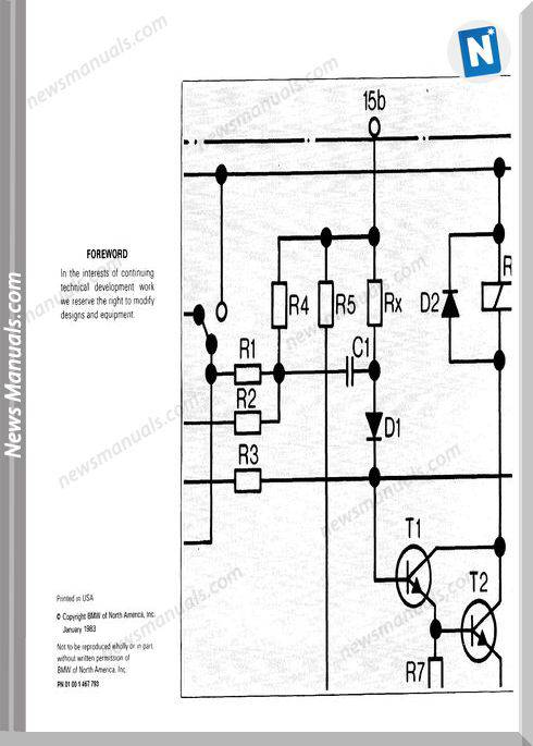 Bmw 633Csi Electrical Troubleshooting Manual 1983
