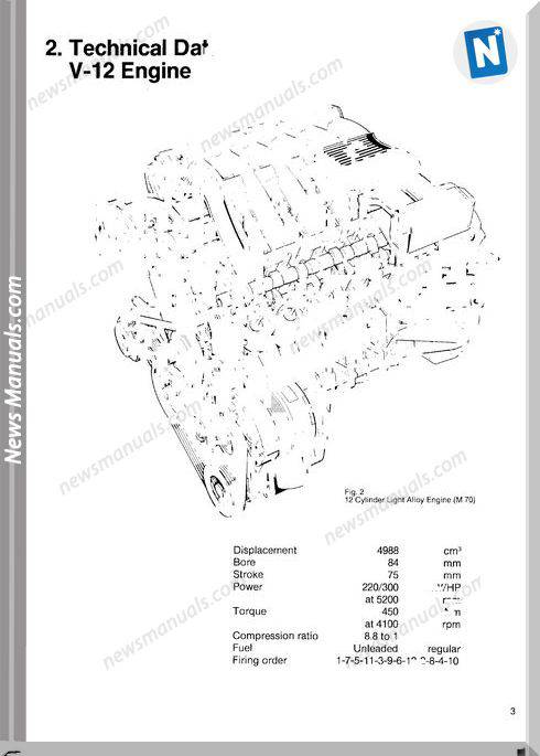 Bmw Training Engine V12 M70