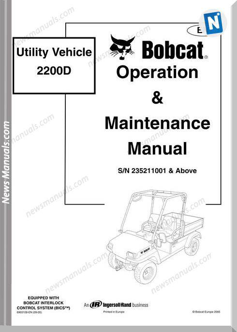Bobcat 2200D Shop Manual