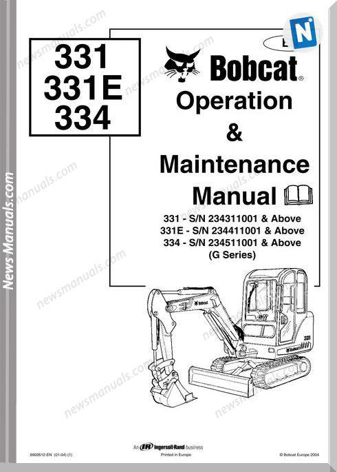 Bobcat 331 334 Shop Manual