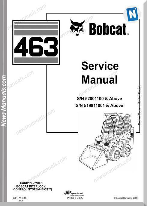 Bobcat 463 Service Manual