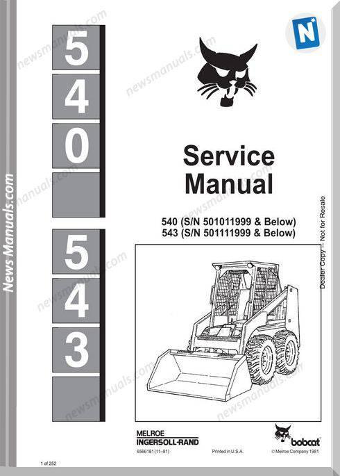 Bobcat 540 Service Manual