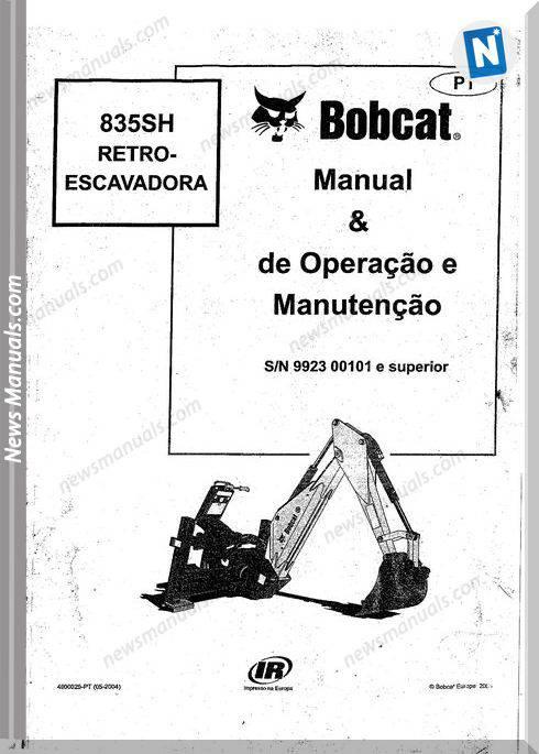 Bobcat 835Sh Operation And Maintenance Manual Spanish
