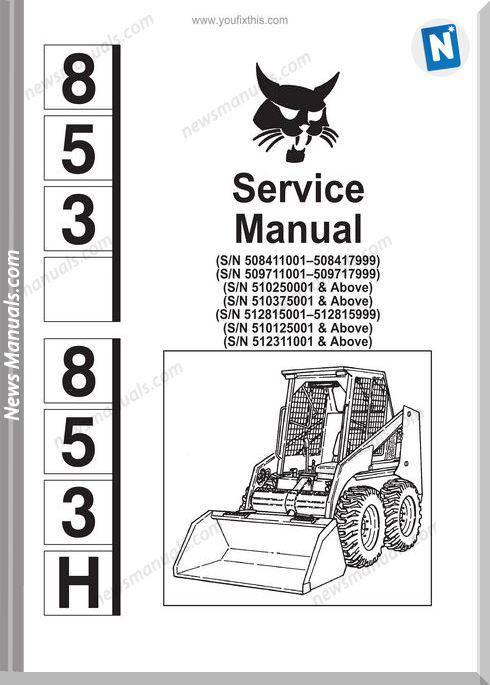 Bobcat 853 Servicemanual-21116B32
