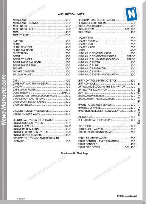 Bobcat Excavators 329 6904771 Service Manual 11 06