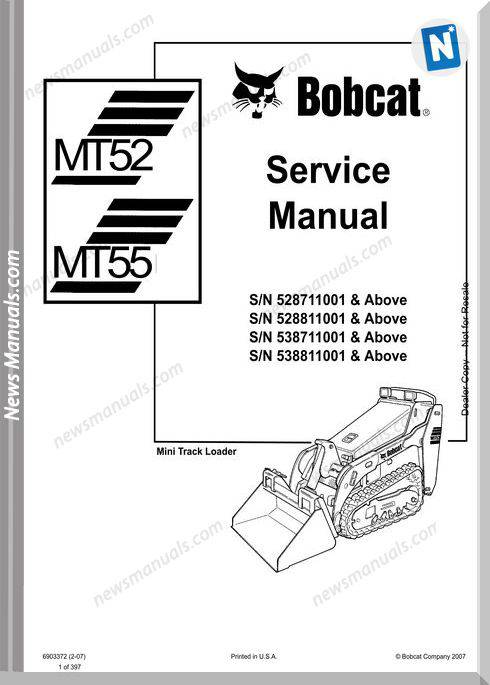 Bobcat Mt52 55 Service Manual